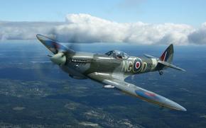 Wallpaper spitfire, fighter, Britain