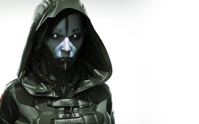 Wallpaper look, girl, hood, fighter, cyborg, tube, Epic Games, Unreal Tournament