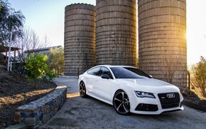 Picture Audi, Audi, white, white, front, RS7