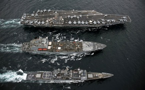 Picture water, ships, the carrier, military