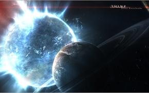 Wallpaper Shine, planet, light, galaxy