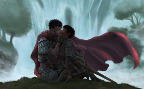 Picture love, undead, monster, anime, kiss, berserk, guts, casca