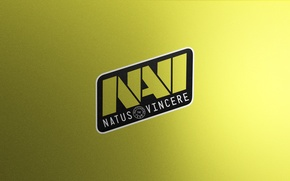 Picture Logo, Game, Team, Minimalism, CSGO, Natus Vincere, Na`Vi, Counter-Strike: Global Offensive, CS:GO, vent designs, Esports