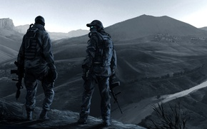 Picture mountains, war, soldiers, operation, Ghost Recon, pustosh