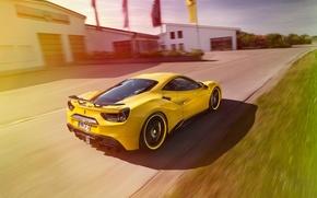 Picture Ferrari, Rosso, Ferrari, car, Novitec, 488 GTB, tuning, novitek, yellow