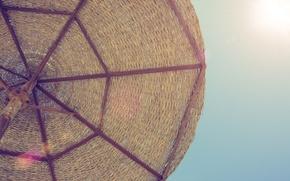 Wallpaper sea, the sun, stay, umbrella, beach