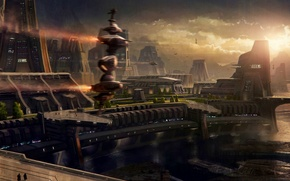 Picture space, the city, building, ships, space, game wallpapers, spaceships, hangars, Star Citizen, Star citizen, the …