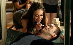 Wallpaper Mila Kunis, fun, sex friendship, Justin Timberlake