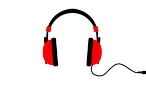 Picture music, headphones, disco