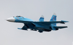 Wallpaper Russian, multipurpose, Flanker, Su-27, weatherproof, The Russian air force, the fourth generation fighter, highly maneuverable