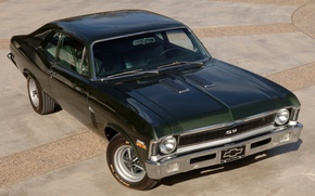 Picture Chevrolet, Chevrolet, green, 1970, the front, Nova, Muscle car, Muscle car, 396, Nova