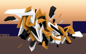 Picture abstract, graffiti, line, photoshop, Firex