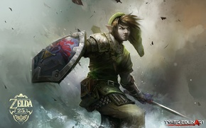 Picture the game, sword, warrior, shield, The Legend of Zelda, tyler edlin