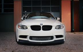 Picture white, Windows, bmw, BMW, brick, gate, white, the front, e92