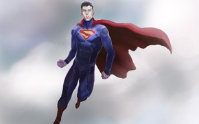Picture Hero, Superman, Cloak, Male, SuperMan, Fiction