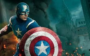 Picture mask, hero, Captain America, Captain America, The Avengers, The Avengers