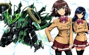 Picture form, Schoolgirls, friend, combat robot, kakumeiki valvrave, saki rukino, shouko sashinami