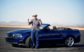 Picture road, machine, mood, road, ford mustang, auto walls