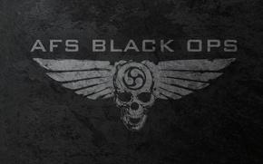 Wallpaper sake, black ops, wings, skull