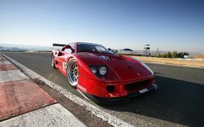 Picture Auto, Machine, Ferrari, F40, Supercar, Front view
