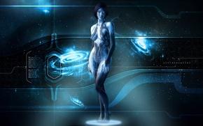 Picture Cortana, Xbox 360, Halo 4, Hologram