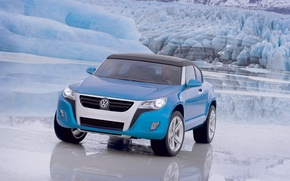 Picture mountains, ice, Volkswagen, Concept A