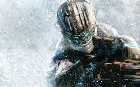 Picture snow, weapons, armor, Isaac Clarke, cutter, Dead Space 3, Isaac Clarke, Dead space 3, Tau …