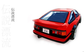 Picture Toyota, AE86, red car, Drift legend