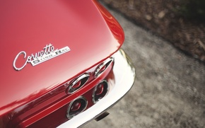 Picture road, Corvette, Chevrolet, back, Sting Ray, 1963, tail lights