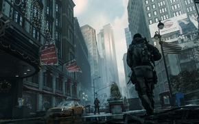 Wallpaper the city, soldiers, USA, new York, The Division