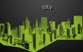Picture city, the city, green, black