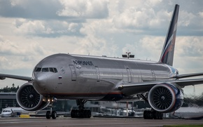 Picture wings, turbine, airport, Boeing, the plane, Boeing, Aeroflot, passenger, B-777, 3M0