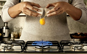 Picture MOVEMENT, PLATE, BROKEN, HANDS, GAS, EGG, The YOLK