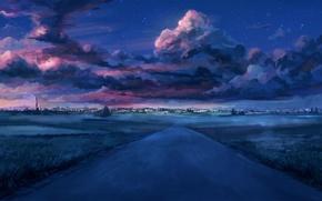 Picture road, the city, everlasting summer, endless summer, iichan-eroge