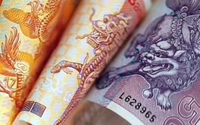 Wallpaper Dragon, Thailand, Money, Bangkok, Bills