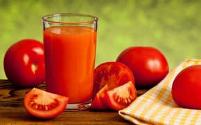 Picture glass, red, vegetables, tomatoes, tomatoes, napkin, tomato juice