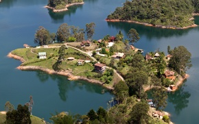Picture Nature, Home, Lake, Trees, Tropics, Top, Laguna de Guatape, Medellin, Columbia