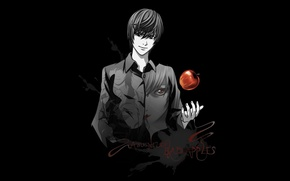 Picture Apple, anime, Light, death note, death note, Kira, Kira, Yagami