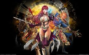 Wallpaper Panties, Magic, Sorceress, Runes, Online Game, Runes of Magic, Sexy