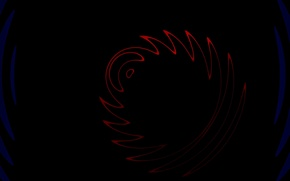 Picture wave, abstraction, red, ring, black