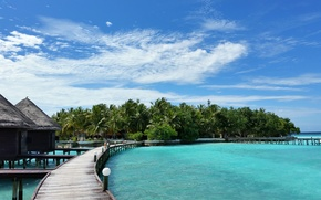 Picture the ocean, stay, island, Maldives
