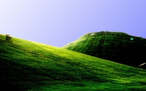 Wallpaper greens, mountains, hills, field