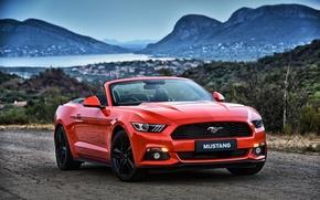 Wallpaper Mustang, Ford, Mustang, convertible, Ford, Convertible