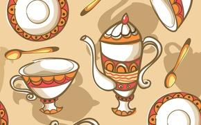 Picture texture, dishes, texture, tea set, dishes, tea set