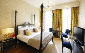 Picture design, style, room, bed, interior, apartment