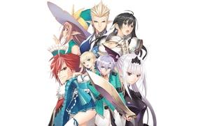 Picture girls, anime, art, elves, guys, tony taka