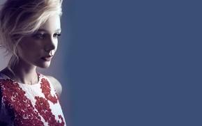 Picture girl, face, background, sweetheart, actress, blonde, beautiful, looks, cute, brown eyes, brown-eyed, Carey Mulligan, Carey …