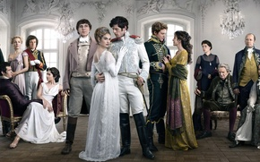 Picture James Norton, Lily James, War and peace, Aneurin Barnard, War & Peace, in the series, …