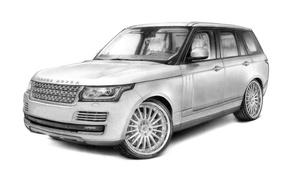 Picture figure, graphics, art, Land Rover, Range Rover, Hamann, kirsanov art, Kirsanov