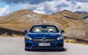 Picture mountains, blue, nature, Mercedes-Benz, AMG, SL500